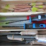 Gereedschap voor beeldhouwers: raspen en vijlen