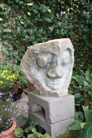 Kop man_Serpentijn Ca 40 cm